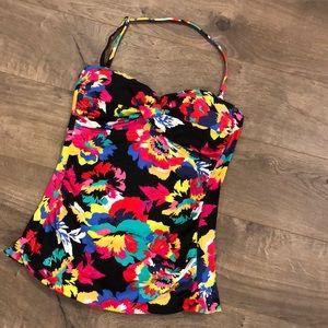 Anne Cole Signature Swim Top Tankini Size Small
